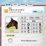 【ダビマス】アポインテッドデイと見事・完璧な配合となる牝馬を作成する