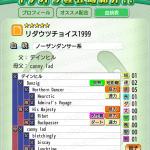 【ダビマス】リダウツチョイス1999 おすすめ配合表
